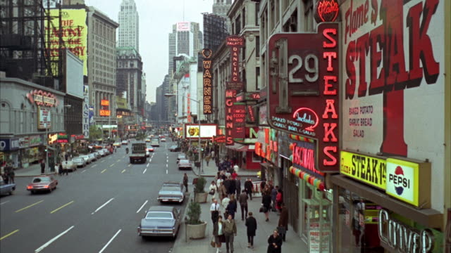 1966 ws ha busy street / new york city, new york, usa - 1966 stock videos & royalty-free footage