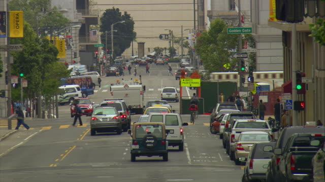 ms busy street, san francisco, california, usa - roadworks stock videos & royalty-free footage