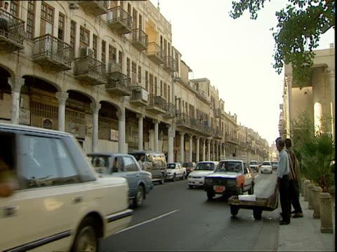 busy street scene / baghdad, iraq - baghdad stock videos & royalty-free footage