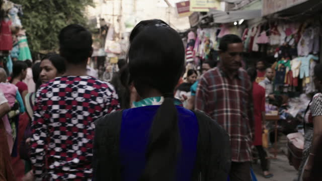 busy street scenes, india - market stock videos & royalty-free footage