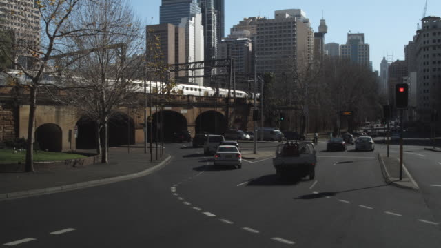 t/l ws busy street / sydney, new south wales, australia - railroad car stock videos and b-roll footage