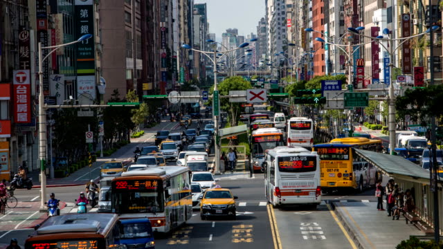 busy streets of taipei - taipei stock videos & royalty-free footage