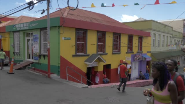 busy streets, st. george's, grenada, windward islands, west indies, caribbean, central america - st. george's grenada stock videos and b-roll footage