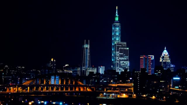 busy taipei bridge after working hours in taipei, taiwan - taipei stock videos & royalty-free footage