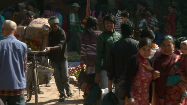 busy town square in nepal. - unknown gender stock videos & royalty-free footage