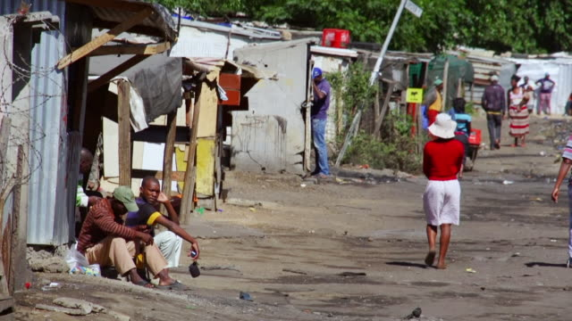 ws busy township scene / diepsloot, south africa - south africa stock videos & royalty-free footage