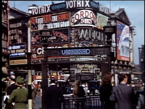 busy traffic and billboards at shaftesbury avenue in piccadilly circus / london england united kingdom - commercial sign stock videos & royalty-free footage