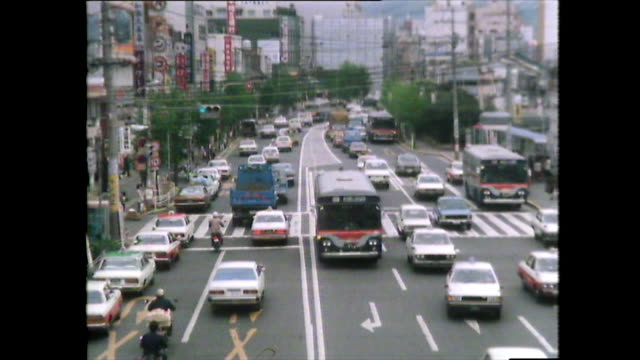 busy traffic and roads in nagasaki; 1981 - history stock videos & royalty-free footage