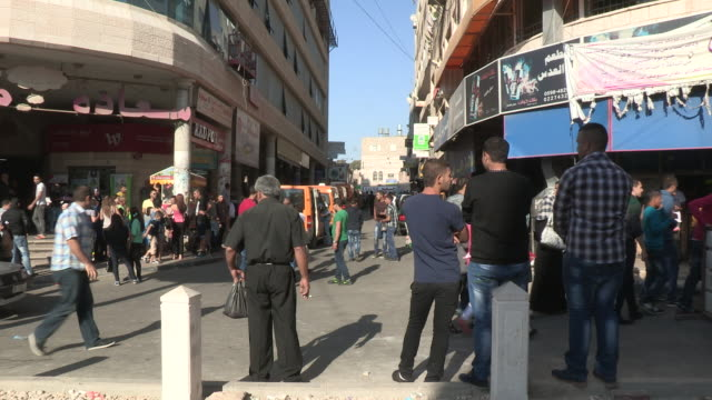 busy traffic circle, bethlehem, palestine - palestinian territories stock videos and b-roll footage