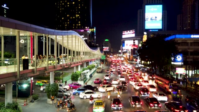 4k busy traffic in bangkok , thailand . - association of southeast asian nations stock videos & royalty-free footage