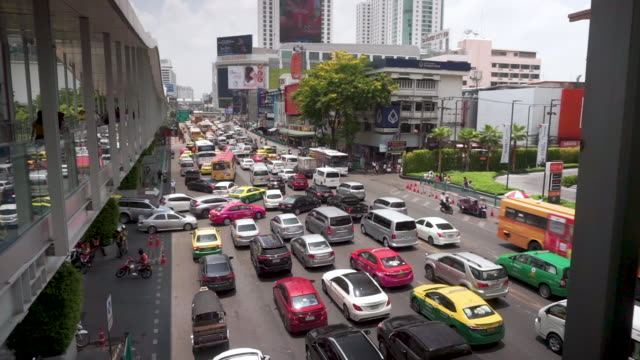 busy traffic in bangkok - association of southeast asian nations stock videos & royalty-free footage