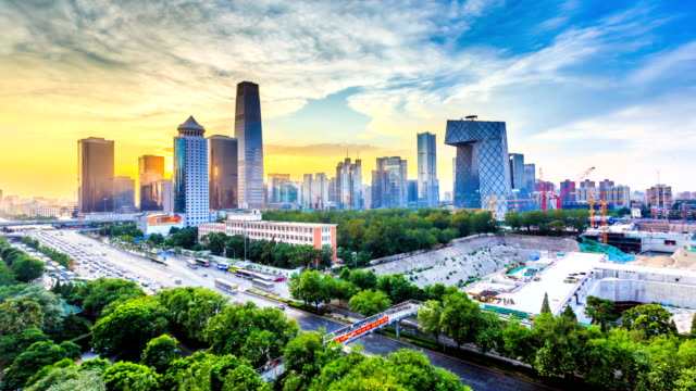 busy traffic in beijing, timelapse. - beijing stock videos & royalty-free footage