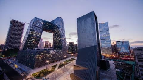 belebten verkehr in peking, timelapse. - architektur stock-videos und b-roll-filmmaterial
