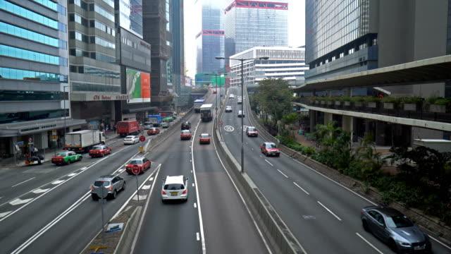 vídeos y material grabado en eventos de stock de intenso tráfico en el centro de la ciudad, hong kong - tiempo real