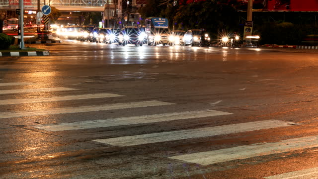 busy traffic night time lapse - land vehicle stock videos & royalty-free footage