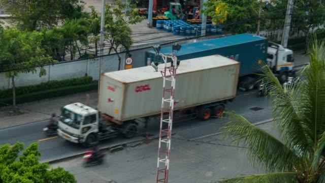 Busy traffic on street near dock