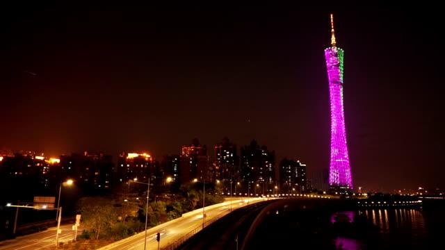 渋滞、街並みやランドマークのモダンなシティ、廣州、低速度撮影などが有効です。 - ローカルな名所点の映像素材/bロール