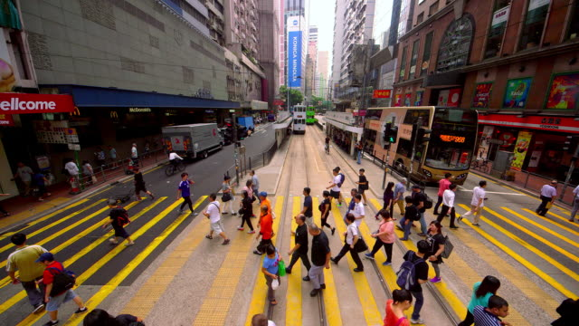vídeos de stock, filmes e b-roll de butchery to wet street - wan chai