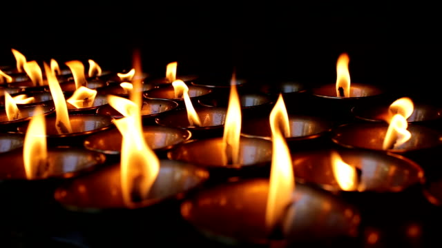 butter lamps in jokhang temple,tibet - tibet stock videos & royalty-free footage