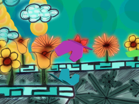 butterflies and clouds over flowers - piccolo gruppo di animali video stock e b–roll
