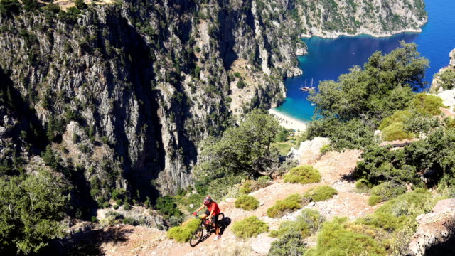 butterfly valley from oludeniz. fethiye / turkey. - fethiye stock videos and b-roll footage