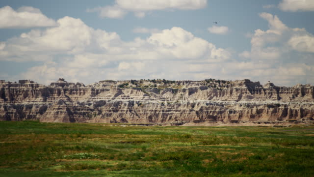 buttes car drive badlands south dakota national park - sandstone stock videos & royalty-free footage
