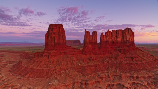aerial buttes near monument pass in monument valley, usa - monument valley stock videos & royalty-free footage