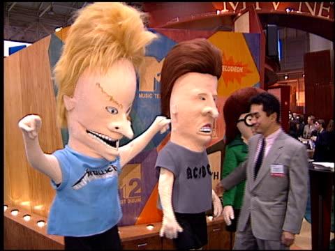 vídeos de stock e filmes b-roll de butt-head at the natpe convention on january 20, 1998. - natpe convention