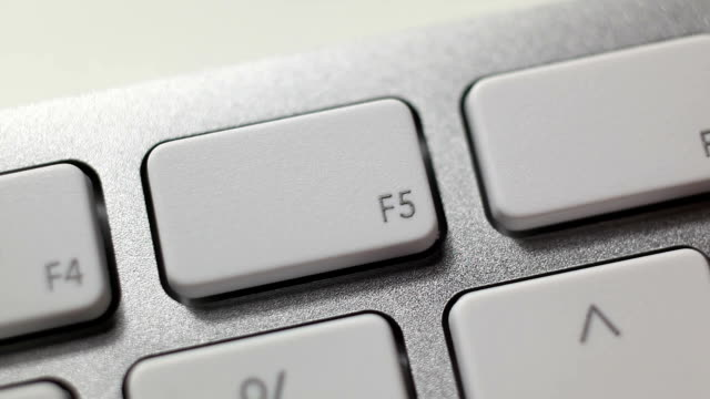 f5 button - computer key stock videos and b-roll footage