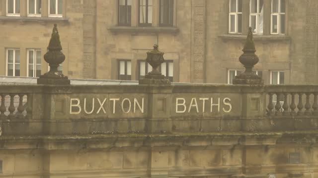 buxton and buxton brewery general views; england: derbyshire: buxton: ext / wet gvs buxton pavilion buildings - buxton opera house and buxton baths /... - water stock videos & royalty-free footage