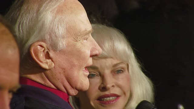 buzz aldrin and lois aldrin at the 'the astronaut farmer' premiere at the cinerama dome at arclight cinemas in hollywood california on february 20... - the astronaut farmer stock videos and b-roll footage