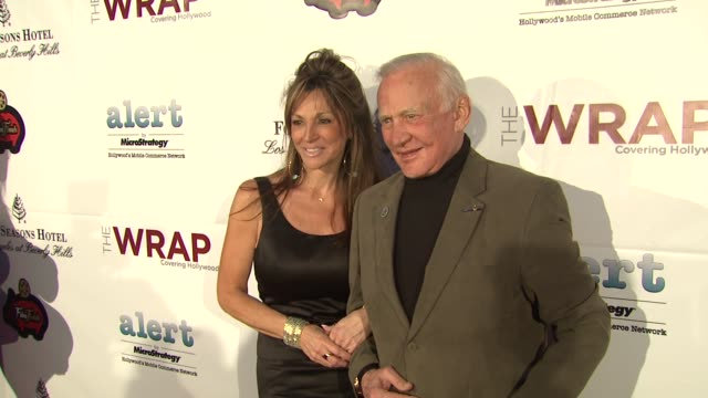 buzz aldrin at thewrap.com pre-oscar party on 2/22/2012 in beverly hills, ca. - oscar party stock videos & royalty-free footage