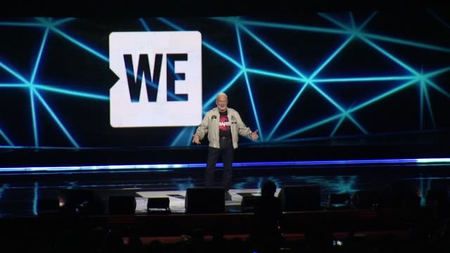 buzz aldrin at we day new york welcome to celebrate young people changing the world at radio city music hall on april 06, 2017 in new york city. - radio city music hall stock-videos und b-roll-filmmaterial