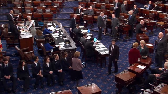 by a vote of 5643 with three democrats voting in favor the united states senate voted after a week of floor debate to confirm former exxonmobil ceo... - exxon stock videos & royalty-free footage