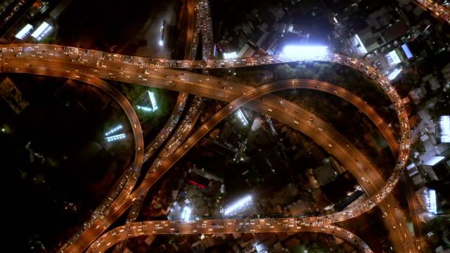 aerial by drone, ws ha bangkok highway / bangkok, thailand - leicester stock videos & royalty-free footage