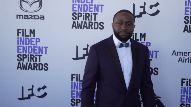 byron bowers at the 2020 film independent spirit awards on february 08 2020 in santa monica california - film independent spirit awards stock videos & royalty-free footage