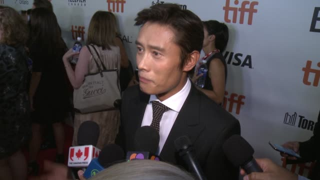 interview byunghun lee on opening tiff if there was pressure to remake this film the most difficult part of making this movie the most fun part of... - toronto international film festival stock videos and b-roll footage