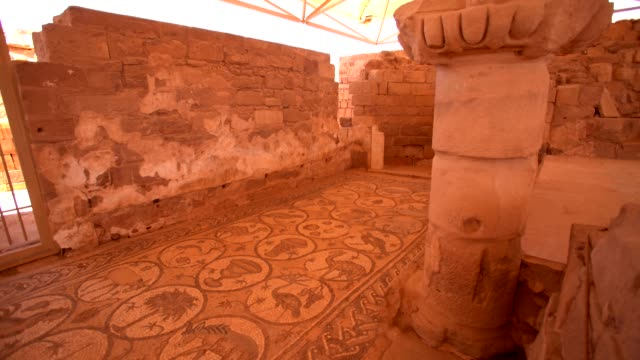 byzantine church - 70 square meters of preserved mosaics, petra, jordan - 4th century bc stock videos and b-roll footage