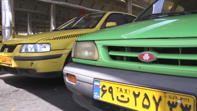 Cab drivers wait for customers at a taxi rank in Tehran Iran on Monday Aug 31 2015
