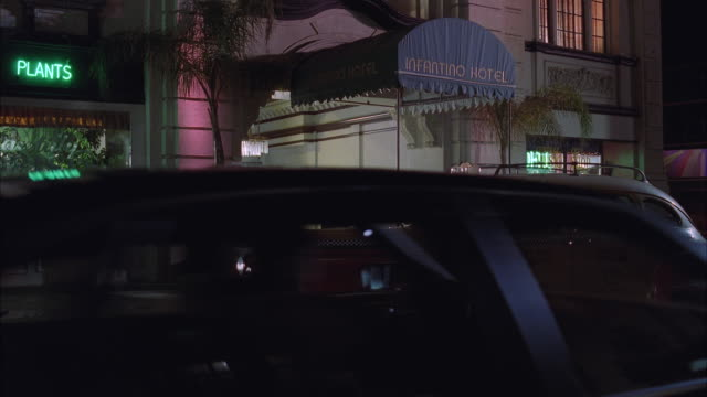ms cab standing in front of infantino hotel, people entering and exiting in cab - awning stock videos and b-roll footage