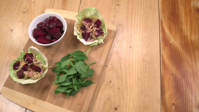 cabbage and beetroot salad - eastern european culture stock videos & royalty-free footage