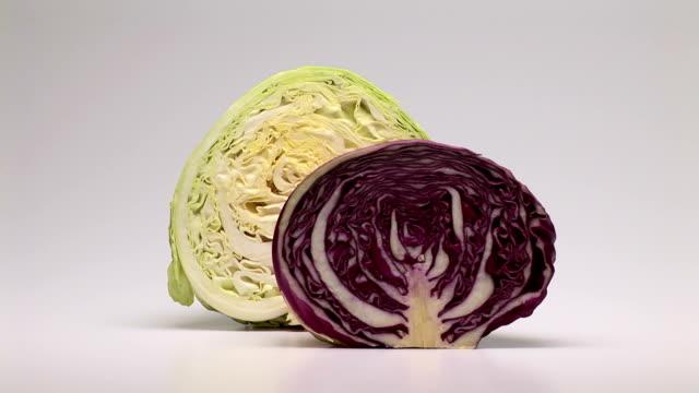 cabbage - crucifers stock-videos und b-roll-filmmaterial