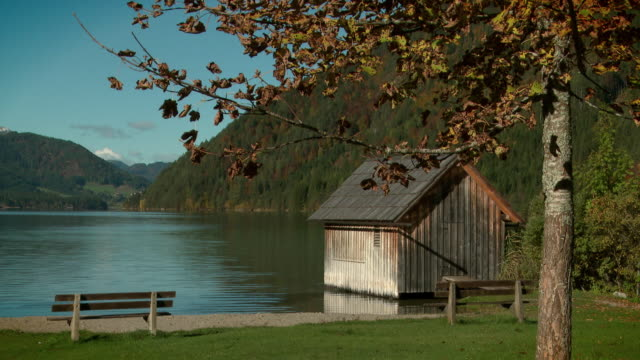 cabin at weissensee - carinthia (gailtal alps) - carinthia stock videos & royalty-free footage