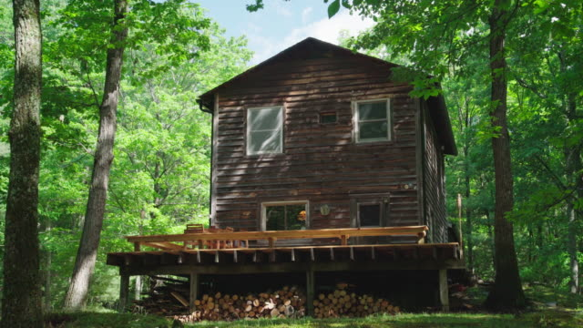 cabin retreat - brief - log cabin stock videos & royalty-free footage
