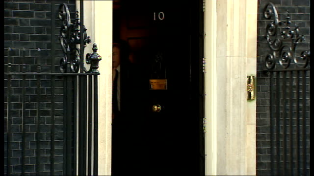 cabinet arrivals and departures at downing street england london 10 downing street ext ed davey mp arriving / theresa villiers mp arriving / eric... - owen paterson stock videos and b-roll footage