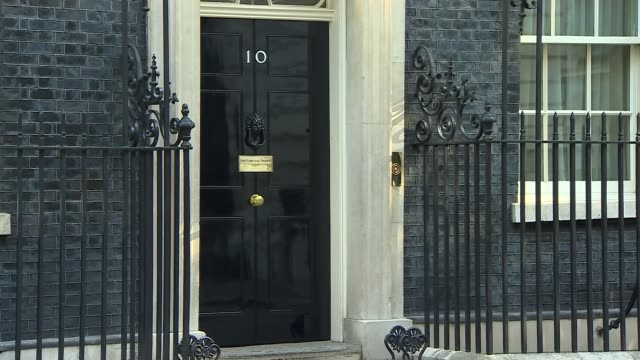 cabinet arrivals and departures at downing street england london downing street patrick mcloughlin mp along arriving at 10 downing street / michael... - andrea leadsom stock-videos und b-roll-filmmaterial