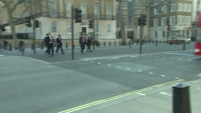cabinet arrivals and departures at whitehall gate england london whitehall ext damian hinds mp arriving and along through gates into downing street /... - andrea leadsom stock-videos und b-roll-filmmaterial