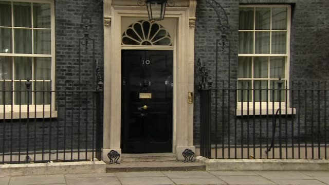 cabinet arrivals and departures; england: london: downing street: ext michael gove mp along arriving and into 10 downing street / justine greening mp... - david m. davis politician stock videos & royalty-free footage