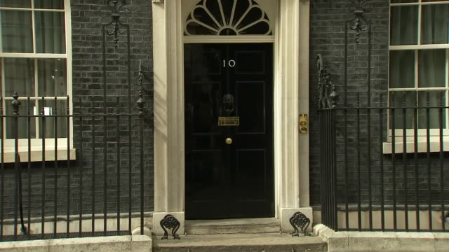 downing street boris johnson departing number 10 / amber rudd departing with brandon lewis and jeremy wright / alun cairns jeremy hunt and chris... - justice concept stock videos and b-roll footage