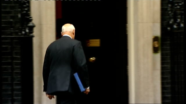 cabinet arrivals at downing street andrew mitchell mp / vince cable mp / jeremy hunt mp / iain duncansmith mp / dominic grieve / caroline spelman mp... - dominic grieve stock videos and b-roll footage